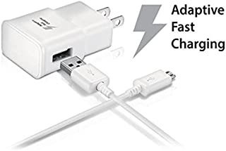 Samsung Galaxy Tab S2 9.7 Adaptive Fast Charger Micro USB 2.0 Cable Kit! True Digital Adaptive Fast Charging uses dual voltages for up to 50% faster charging!
