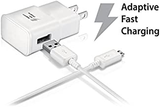 Samsung Galaxy Tab E 8.0 Tablet Adaptive Fast Charger Micro USB 2.0 Cable Kit! True Digital Adaptive Fast Charging uses dual voltages for up to 50% faster charging!