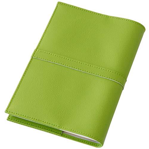 TEES FACTORY 国産 PVC レザー ブック カバー SION 御朱印帳(大)判 しおり付き グリーン 合成皮革