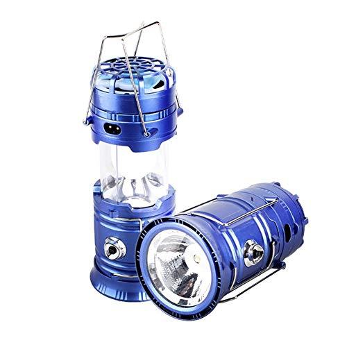 Luz de la tienda recargable de luz de camping Carpa de la lámpara 5W que acampa LED Luces al aire libre Linterna camping plegable Solar linternas con ventilador Línea recargable (Color : US plug)