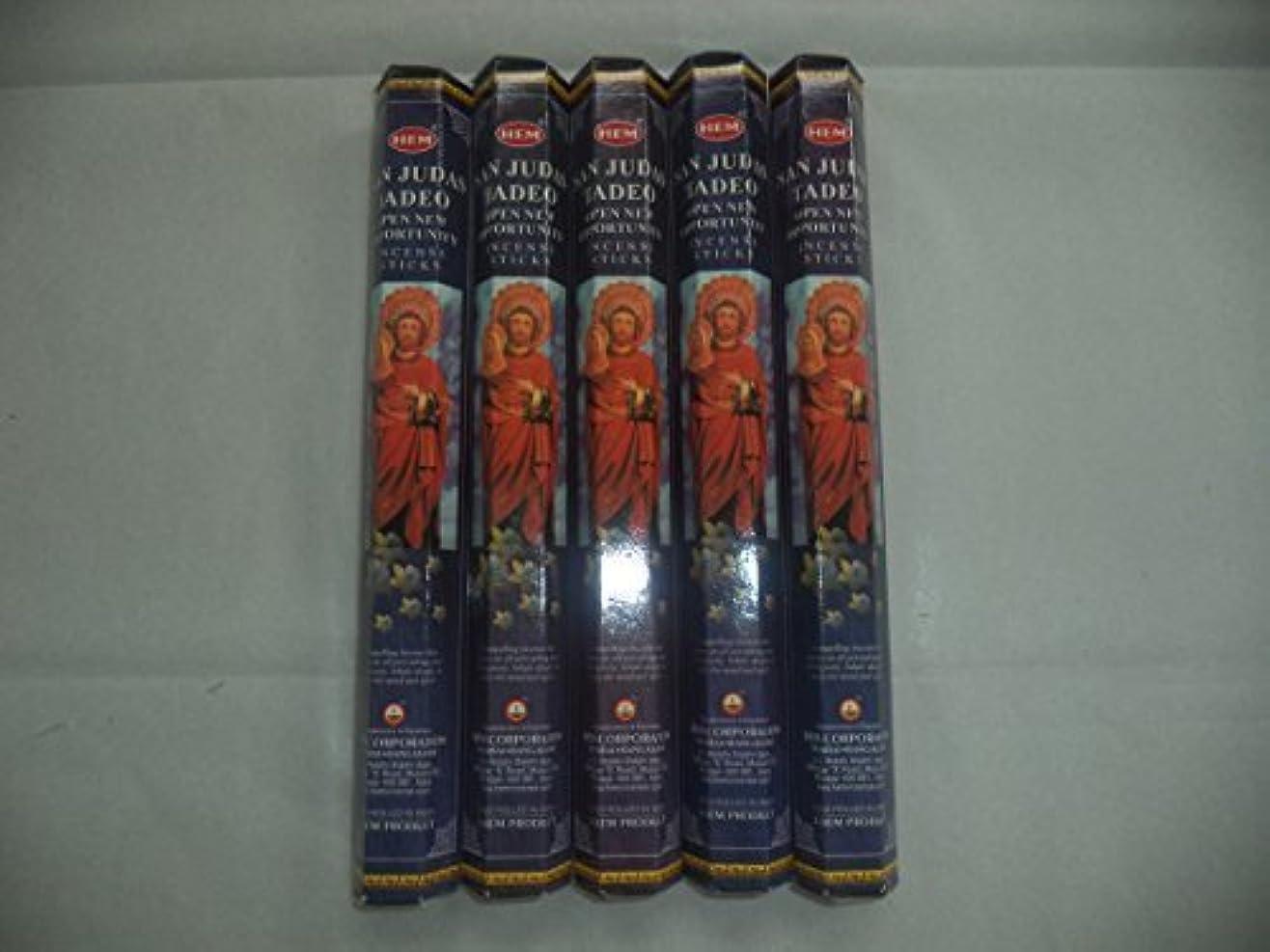 法令無関心韓国HEM San Judas Tadeo 100 Incense Sticks (5 x 20 stick packs) by Hem [並行輸入品]