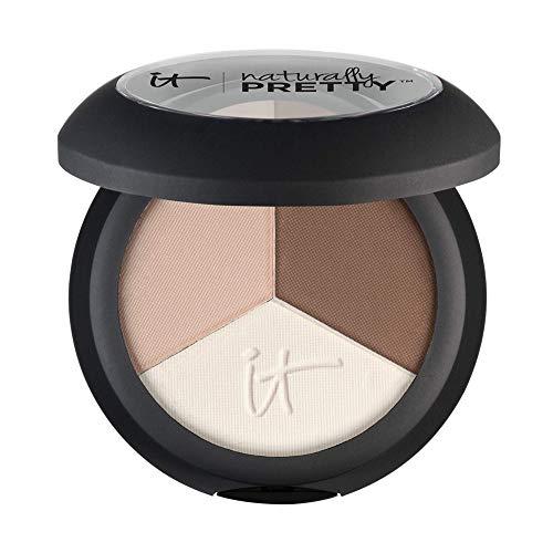 IT Cosmetics Naturally Pretty Trio, Matte Luxe - Anti-Aging Eyeshadow - Three Velvety Neutral Shades - With Hydrolyzed Collagen, Silk, Acai, Green Tea & Vitamins A, C & E - 0.03 oz