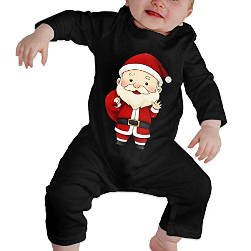 GLGFashion Unisex Uncle Santa Newborn Baby 6-24 Months Baby Climbing Clothing Baby Long Sleeve Garment Combinaisons Body bébé Barboteuse