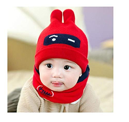Kinder Hut, Herbst und Winter Hut der Kinder, Kinder-Strickmütze, Warmer Schal, Hut Kinder -schalsatz@A5_40-48cm