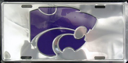 K-State Kansas Chrome LICENSE PLATES Plate Tag Tags auto vehicle car front