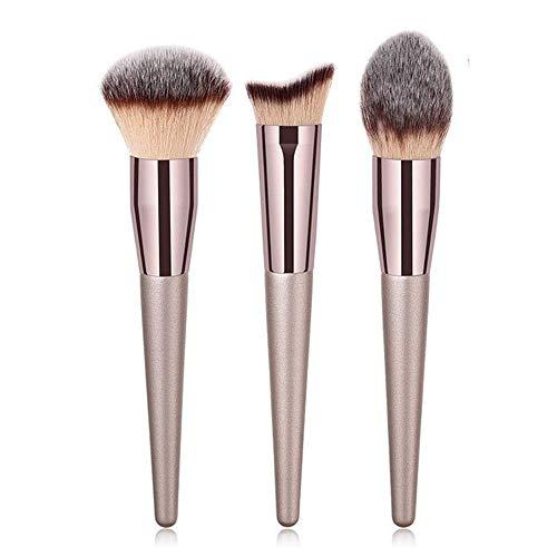 MEIMEIDA Maquilleur professionnel brosses blush poudre fond de teint fard à paupières fard à paupières sourcils eyeliner maquillage pour les lèvres pinceaux outils de beauté, pinceau 3pcs xb yxh