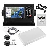 Qiilu Navigatore satellitare GPS marino, navigatore satellitare satellitare GPS da 5 pollici Display LCD a colori XF-520 Plotter cartografico per barche a posizionamento doppio modo