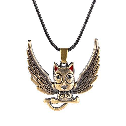 Accesorios De Película De Anime Fairy Tail Cute Hobby Owl Colgante Collar