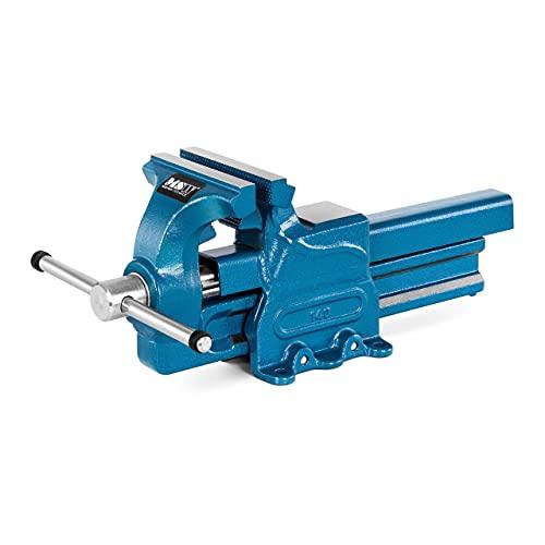 MSW Tornillo de Banco Prensa para Carpintería MSW-DFV-140 (Envergadura 200 mm, Ancho de mordaza 140 mm, Área del yunque: 57x54 mm)