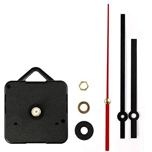 JenK Cing DIY Lautloses Funkuhr Quarz-Uhrwerk Uhrwerk für Wanduhr, zum Basteln, Funkuhr Teile Reparatur-Kit (Weiß)
