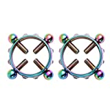 SUPVOX 2PCS Breast Jewelry Diamond Nipple Ring Adjustable Stainless Steel Non-Piercing Circle Ring Body Jewelry for Girls