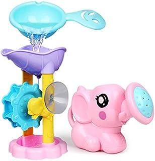 ORIYUKKI Baby Bath Toys Waterwheel Elephant Bathing Toddler Bathtub Foam Beach Swimming Pool Sprinkler Toy