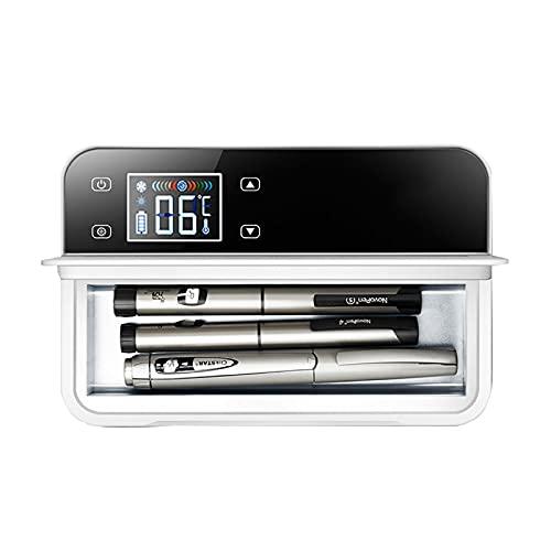 ZZBB Caja de Refrigerador de Insulina Semiconductor,Nevera Portátil de Insulina,Refrigerador de Coche para Automóvil Viaje,Hogar con Pantalla LCD Temperatura Constante 2-8℃