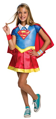 DC Comics - Disfraz de Supergirl licencia oficial para niña, infantil talla 5-6 años (Rubie's 620714-M)
