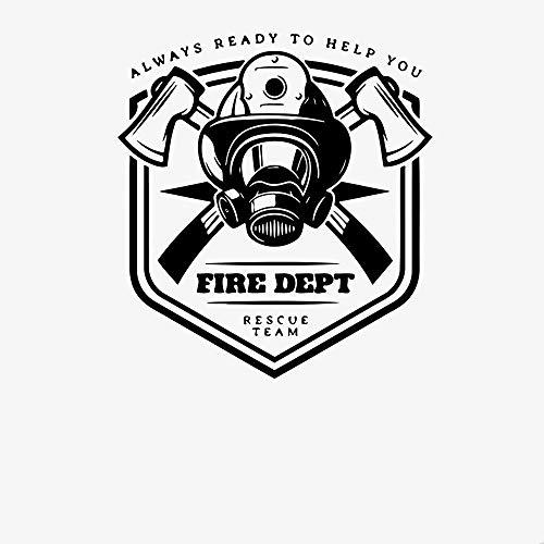 Departamento de bomberos calcomanía de pared bombero emblema riesgo motivación equipo frase siempre ayuda vinilo pegatinas de pared decoración de la sala de estar-Los 30x28cm