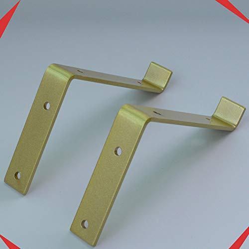 Shelf brackets LDFZ houder 15/20/25 cm, houder voor planken van industrieel ijzer, dikte 4 mm, hoek voor industrieel gebruik L zwaar, belasting 50-100 kg (goud)