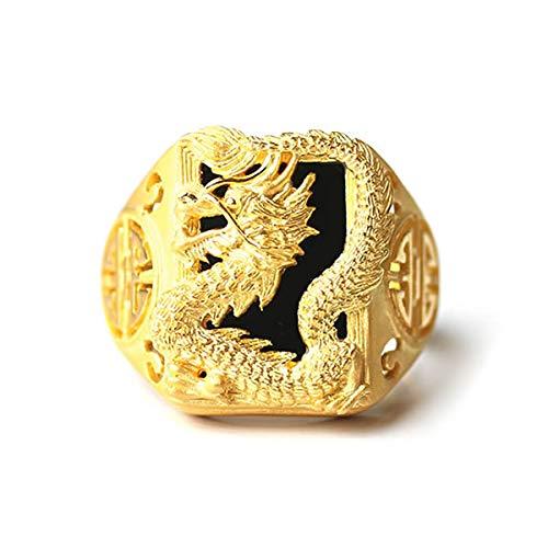 PRIMAGOLD(プリマゴールド) 24K Mens 純金リング指輪 台形リング 龍モチーフ 24金 純金 K24YGメンズ 男性用 ゴールド (20)