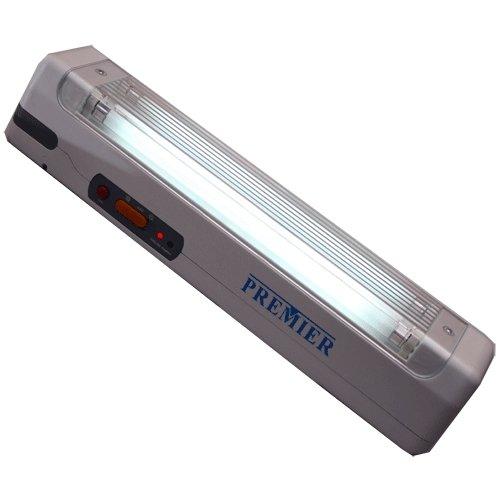 Linterna recargable y luz de emergencia - 2 tubos x 8W - PREMIER PRL-886
