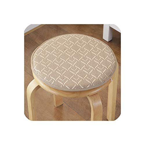 Chair Cushion for Summer Multi Colors Seat Cushions for Dining Chair Floor Pad Quality Poam Coshions 1pcs,jinselingxingge,Dia About 50cm