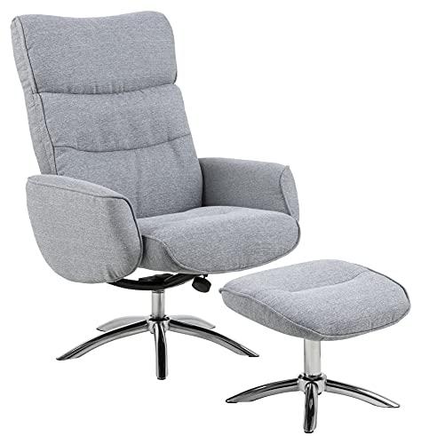 AC Design Furniture Sessel Wesley, B: 76 x T:127,5 x H: 108,5 cm, Stoff, Grau