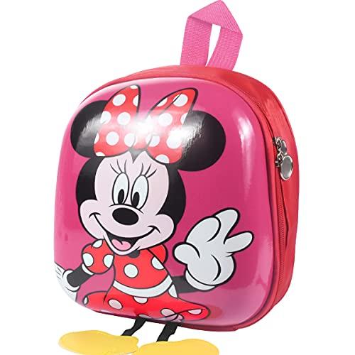 FGen Zaino di Minnie,Zainetto per Bambini Minnie,Zainetto Minnie Bambina,Vari Colori, con Gambe di Mickey Mouse per Della Scuola Materna e Scuola Elementare(2-8 anni) (Rosa)