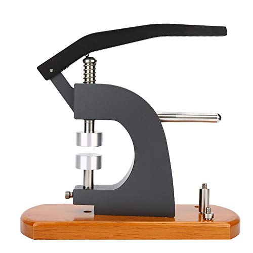 Huakii 5500-E Cierre Trasero de Caja, máquina Profesional de Cierre Trasero, portátil, Base de Madera, Cierre de Caja de Reloj, para Cierre a presión, tapadora, relojero