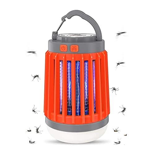 SONG Lampe de Camping, Lampe de Moustique à LED de Camping à énergie Solaire, avec Lampe de Poche Lanterne Portable Anti-Moustique UV, Costume pour Le Camping, randonnée, pêche, Coupes de Puissance