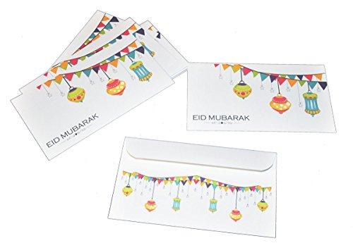 Zaffron Eid Holiday Gift Money Envelopes Lanterns Design (8 pack)