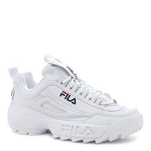 Fila Men's Disruptor II Sneaker,White/Peacoat/Vinred,9.5 M
