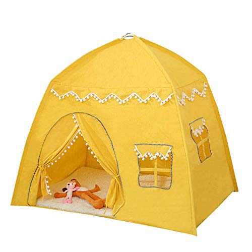 Princess Castle Play Tent, Kids Teepee Tent Casa De Juegos Grande Para Niños, Carpa De Juegos Para Niños Para Niñas, Niños, Teepee De Cuento De Hadas Para Niños, Para Uso En Interiores Y Exteriores