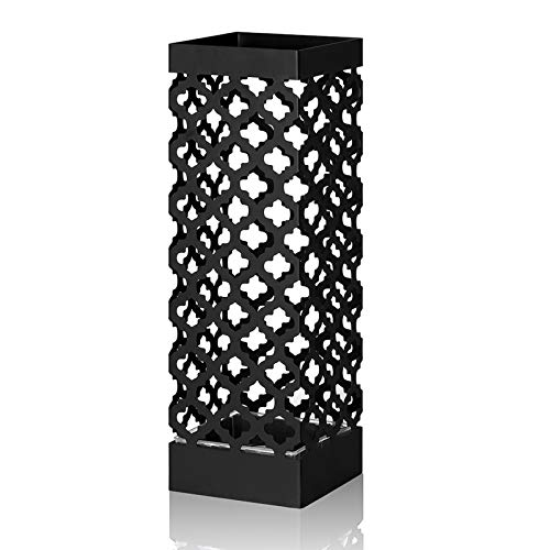 NEX Umbrella Stand, Free Standing Umbrella Holder Rack with Drip Tray and 2 Hook for Home, Entryway, Office