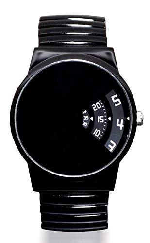 SOFTECH London Unisex Erwachsene Analog Klassisch Quarz Uhr mit Edelstahl Armband SE380 Shiny Black