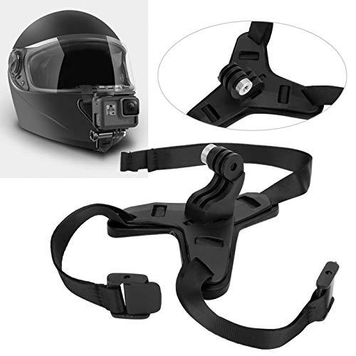SHYEKYO Cámara de acción Material del Soporte de Ciclismo ABS + Silicona Soporte de mentón para cámara de acción fácil de Instalar, para Motocicleta(Negro)