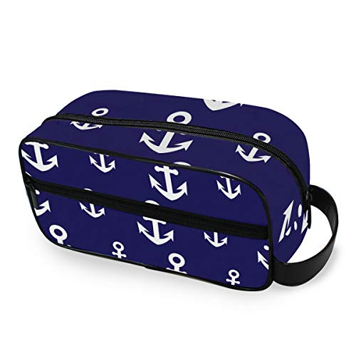 Outils de stockage Cosmetic Train Case Anchors Portable Toiletry Pouch Fashion Travel Makeup Bag
