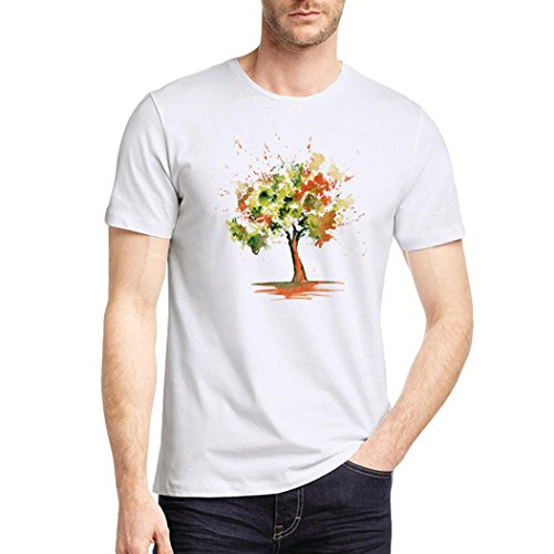 Zarupeng heren Summer Basic T-shirt, casual abstract druk O-Neck korte mouwen sport shirt sweatshirt top losse vrijetijdshemd korte mouwen shirt
