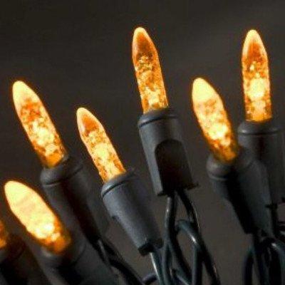 Konstsmide 3602-850 LED Lichterkette / für Innen (IP20) / 230V Innen / 40 orange Dioden / grüne Kabel