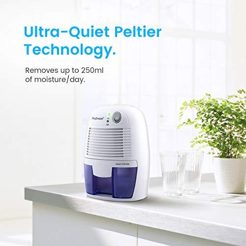 Pro Breeze Mini Deshumidificador 500ml, Silencioso y...