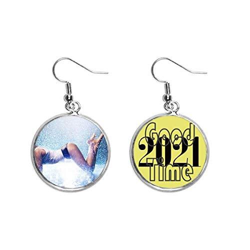 Boucles d'oreilles pendantes en forme de S avec poitrine nue - Pour fille - Bijoux porte-bonheur 2021