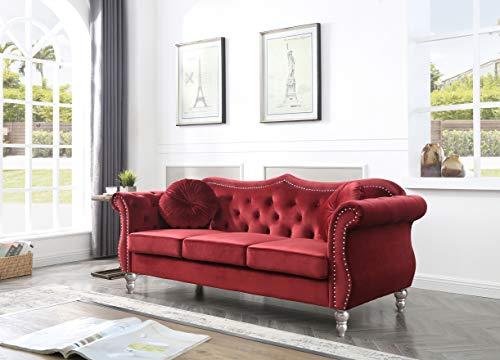 Glory Furniture Hollywood Sofas, Burgundy