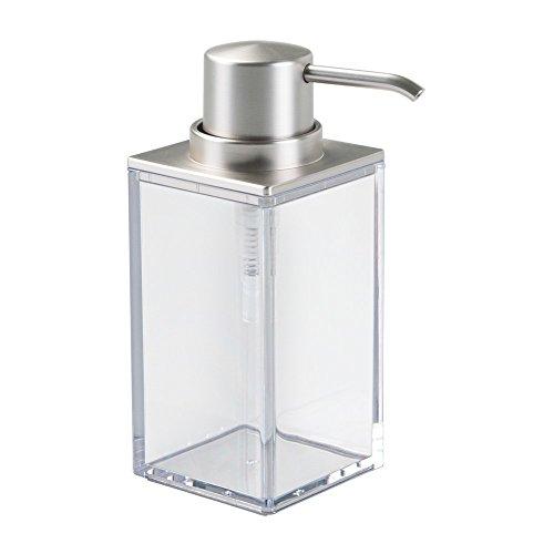 InterDesign 41380EU Clarity Seifenspender für Küche oder Bad - Durchsichtig/Gebürstet ABS 9,22 x 6,35 x 15,24 cm