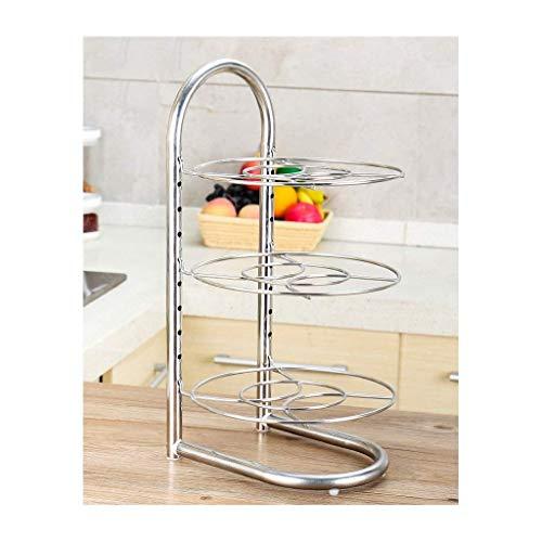ZGQA-GQA Estantería de cocina lixin 304 de acero inoxidable para ollas (color: plata, tamaño: 48 x 25 cm) (color: plata, tamaño: 48 x 25 cm)
