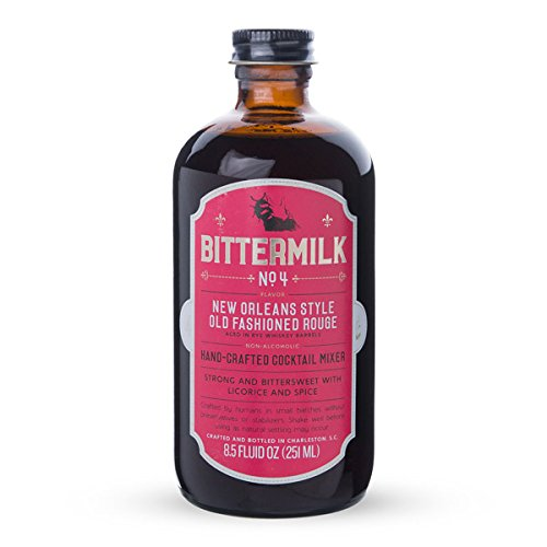Bittermilk No.4 New Orleans Style Old Fashioned Rouge – All Natural Handcrafted Cocktail Mixer – Just Add Whiskey, Makes 17 Cocktails