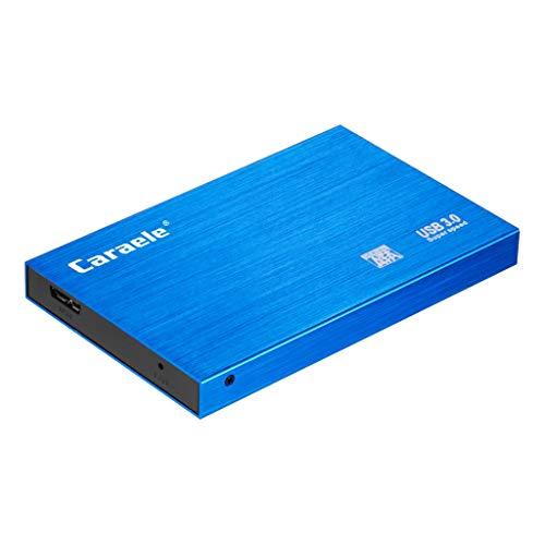 B Blesiya Disco Duro Externo Portátil Extendido USB 3.0 con Cable Azul - 2T