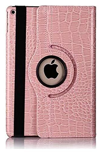 ZRH Accesorios De Pestañas para iPad 10.2, 360 Funda De Cuero De Cocodrilo Giratorio Funda Inteligente para iPad Air 1/2 9.7 (Color : Pink, Size : Air 1 2 (9.7) 5th 6th)