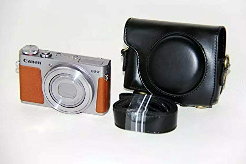Protective PU Leather Camera Case, Bag for Canon POWERSHOT G9 X G9X/G9X Mark II