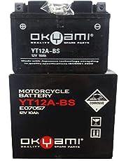 Batterij YT12A-BS OKYAMI S UZUKI AN Burgman K7 K8 400 2006 2007 2008 2009 2010