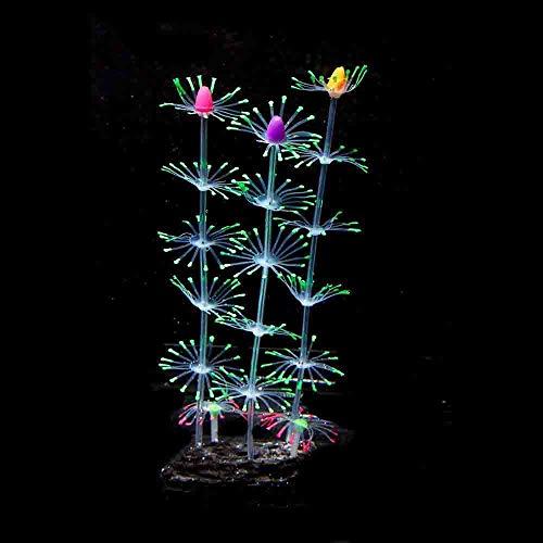 ZA 19,5 cm hoog Siliconen Kunstvis Tank Aquarium Koraal Plant Bloem Ornament Water Decor Huisdecoratie
