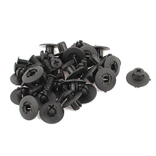 Zwarte Plastic klinknagels Fender Hot Rod Car Push Clips 17mm lengte 24Pc