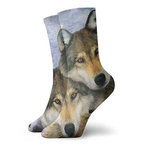 Calcetines Casuales Wolf Harmony Wildlife Animal Printed Sport Calcetines Deportivos Calcetines de compresión...