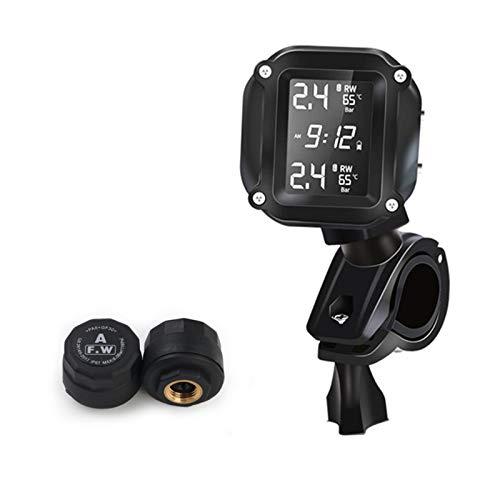 xinaishan バイク用タイヤ空気圧監視システム 2センサー付き ワイヤレス防水 リアルタイム監視
